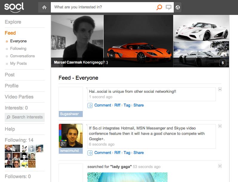 Le réseau social de Microsoft, So.cl, n'est plus destiné seulement aux étudiants - Flux d'activités contenant les recherches et les publications