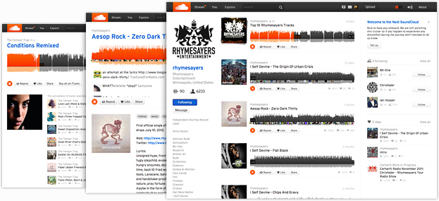 Nouveau design pour SoundCloud en bêta privée - The Next SoundCloud