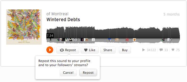Nouveau design pour SoundCloud en bêta privée - Re-partager vos sons et vos sets