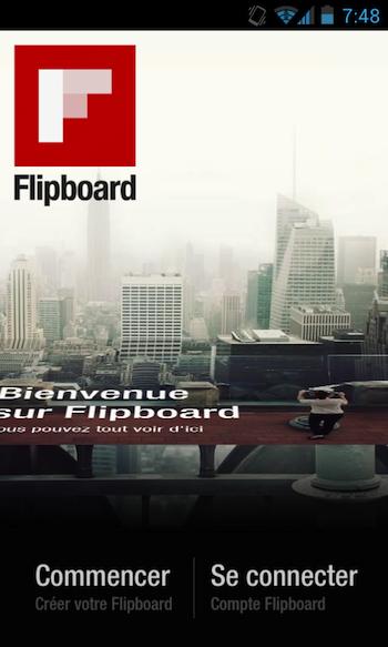 Télécharger l'APK de Google Play Store le nouveau Android Market dès maintenant - Écran d'accueil de l'application bêta Flipboard
