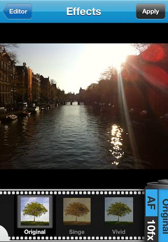 Twitpic publie sa propre application iPhone avec des filtres ! De quoi concurrencer Instagram ? - Ajout d'un filtre à la photo dans Twitpic