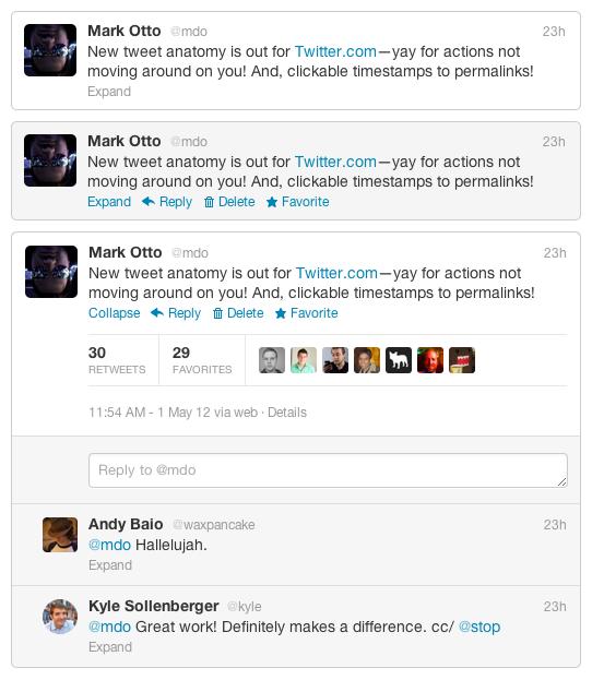 Twitter confirme les modifications de son interface subtiles mais importantes pour Twitter.com