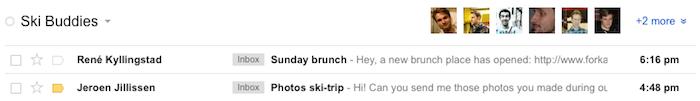 Une mise à jour Gmail inclut une amélioration de l'intégration de Google+ - Affichage des photos des contacts de vos cercles