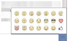 Ajout d'un menu de choix des smileys dans le chat Facebook - Liste Smileys