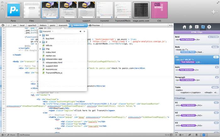 Applications, ressources et goodies pour les concepteurs Web ! - Coda 2 pour Mac & Diet Coda pour iPad