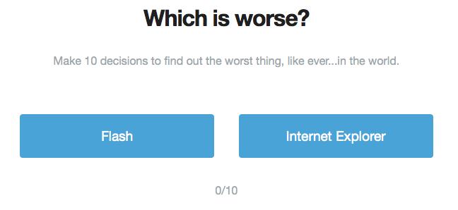 Applications, ressources et goodies pour les concepteurs Web ! - Which is worse ?