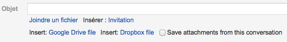 Attachments.me, une intégration avec Google Drive - Ajouter des pièces jointes hébergées sur Google Drive
