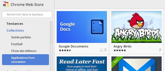 Chrome Web Store affiche de nouvelles fonctionnalités pour les développeurs - Applications hors connexion dans le Chrome Web Store