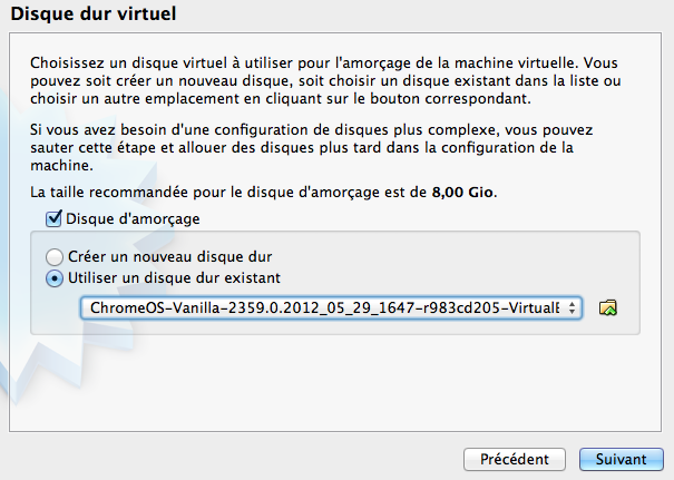 Comment installer Chrome OS sur VirtualBox et en USB - Disque dur virtuel