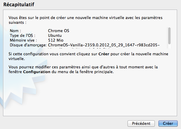 Comment installer Chrome OS sur VirtualBox et en USB - Récapitulatif