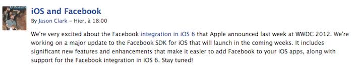 Facebook affirme qu'il travaille sur mise à jour majeure pour son SDK pour iOS