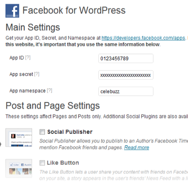 Facebook propose désormais une intégration officielle pour WordPress - Paramétrage du plugin WordPress for Facebook