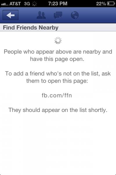 Facebook supprime Rechercher des amis à proximité car ce n'était pas un communiqué officiel
