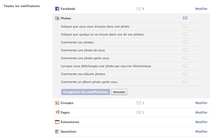 Facebook vous donne plus d'options pour la gestion de vos notifications