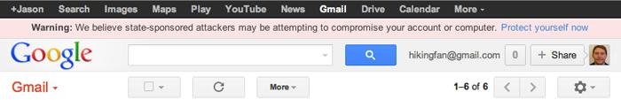 Google commence a alerter les utilisateurs en cas d'attaques