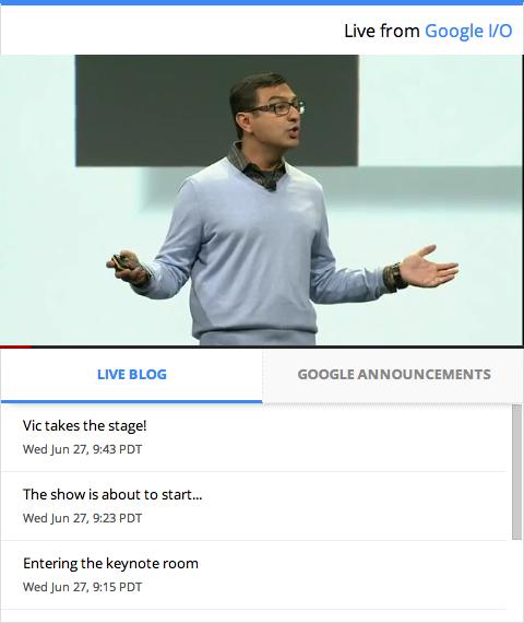Google lance un nouvel outil de blogging pour un I/O en direct