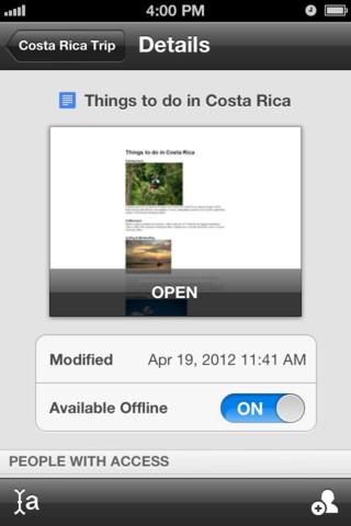 Google offre l'édition hors-ligne et Drive sur iOS