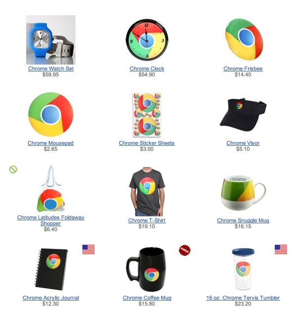 Google se met maintenant à vendre des oreillers Chrome !