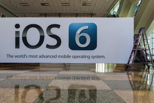 iOS 6 : Une bannière au WWDC 2012 confirme son lancement