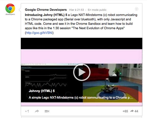 Johnny (HTML) 5 : Google lance un nouveau Robot