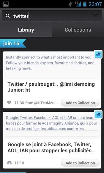 Jolicloud apporte son service de cloud personnel à Android - Lancement d'une recherche parmi votre contenu