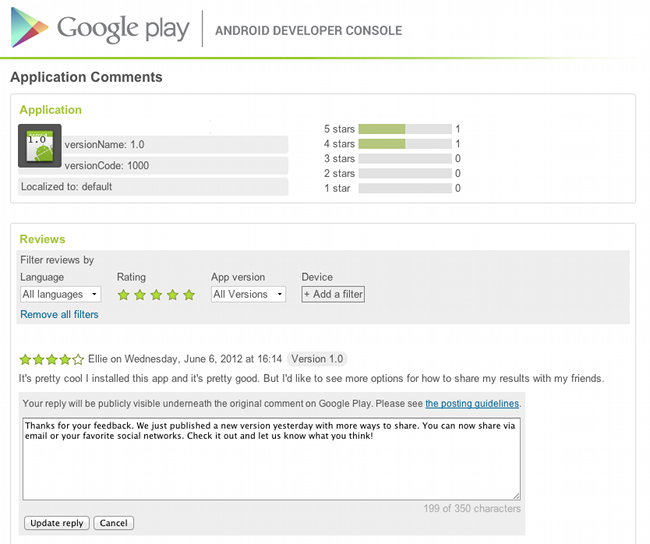 Les développeurs Android peuvent maintenant s'exprimer sur Google Play