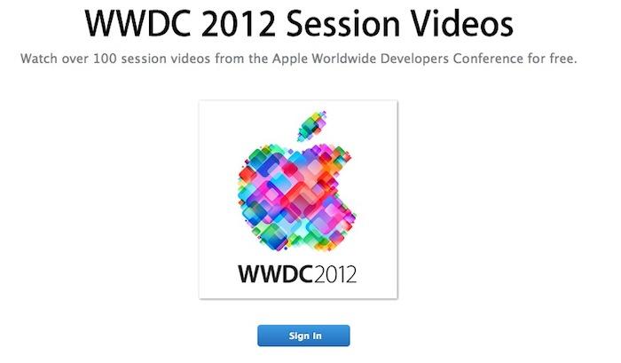 Les vidéos du WWDC 2012 maintenant disponibles pour les développeurs Apple