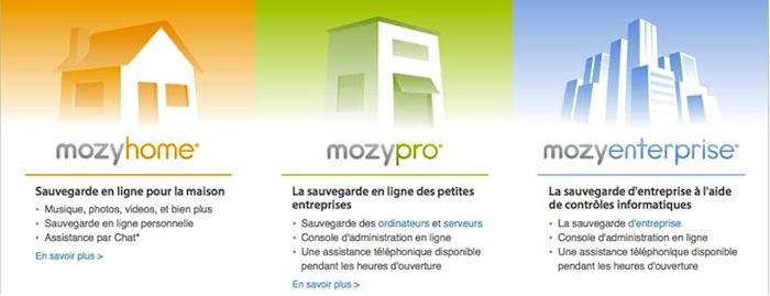Mozy, un service de sauvegarde en ligne simple, sure et abordable - Trois solutions Mozy