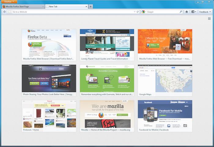 Nouveau design pour la page d'accueil et pour un nouvel onglet de Firefox - Page d'onglets de Firefox 13