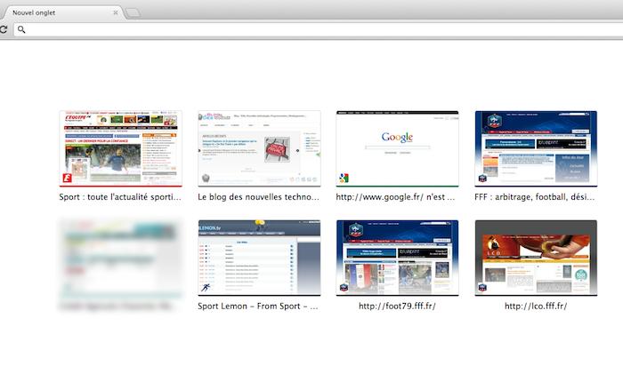 Nouveau design pour la page d'accueil et pour un nouvel onglet de Firefox - Page d'onglets de Chrome
