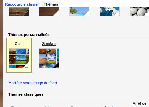 Personnaliser vos thèmes sur Gmail est maintenant une réalité - Thèmes personnalisés dans Gmail