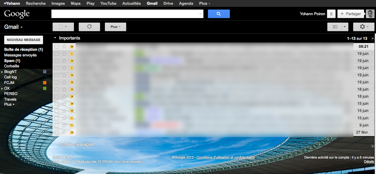 Personnaliser vos thèmes sur Gmail est maintenant une réalité - Application d'un thème personnalisé
