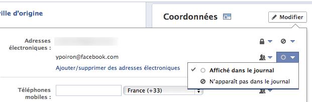 Qu'on le veuille ou non, votre e-mail Facebook est maintenant répertorié par défaut - Modification de l'e-mail @facebook par défaut dans votre profil