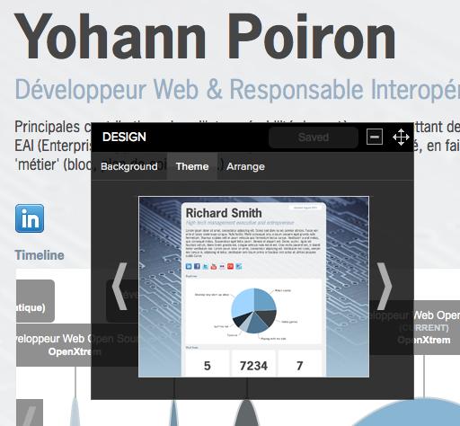 Transformez votre CV en une véritable infographie avec Re.vu - Personnalisation du CV sur Re.vu