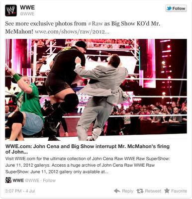 Twitter étend le contenu des tweets ! - Contenu obtenu depuis The WWE