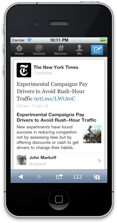 Twitter étend le contenu des tweets ! - Possibilité de lire un article du New York Times
