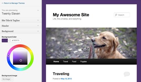 WordPress 3.4 officiellement disponible pour tous et installé sur le blog - Personnalisez votre thème actuel
