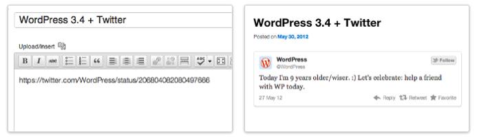 WordPress 3.4 officiellement disponible pour tous et installé sur le blog - Twitter est dans la place