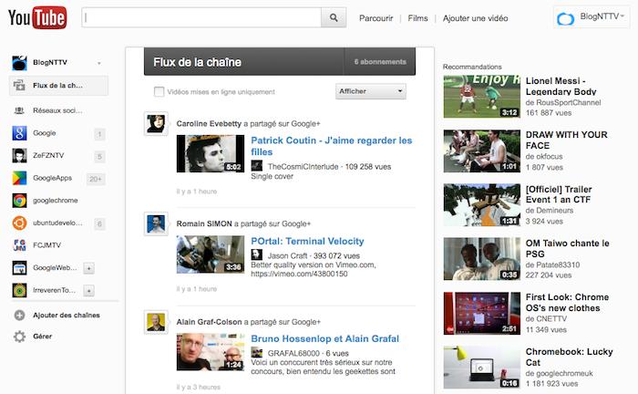 YouTube teste encore une nouvelle page, testez la en avant première ! - Nouvelle interface de la page d'accueil de Youtube