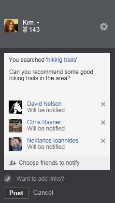 Bing permet de taguer un ami Facebook lors d'une recherche