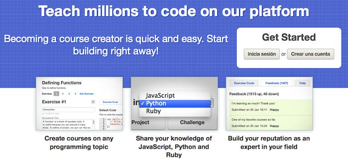 Codecademy permet à des millions d'utilisateurs d'apprendre le Python