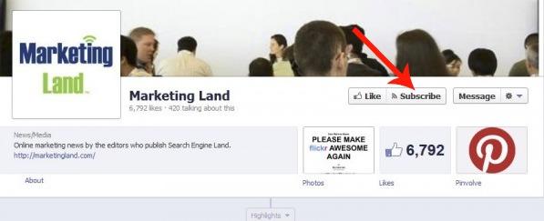 Facebook teste un bouton S'abonner pour les pages