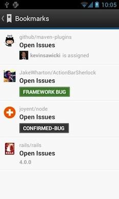 Github sur Android vous permet de garder un oeil sur tous vos projets depuis votre mobile - Bookmarks