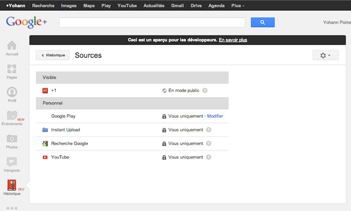 Google+ Historique : La 'Facebook Timeline' accessible actuellement seulement par les développeurs - Sources