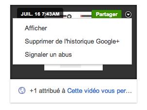Google+ Historique : La 'Facebook Timeline' accessible actuellement seulement par les développeurs - Survol d'un moment dans Google+ Historique