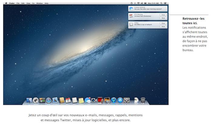 Hiss redirige les notifications Growl vers le système de notifications de Mountain Lion - Notifications
