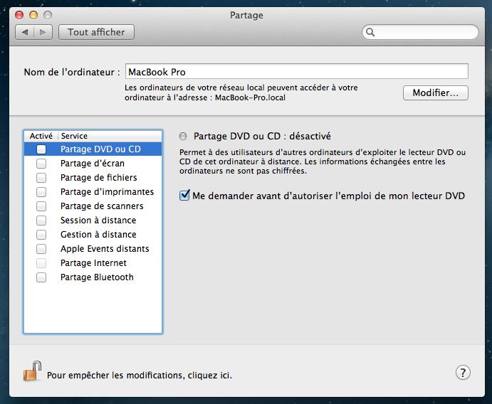 Installer et configurer Apache, MySQL, PHP et phpMyAdmin sur OSX 10.8 Mountain Lion - Disparition du Partage Web