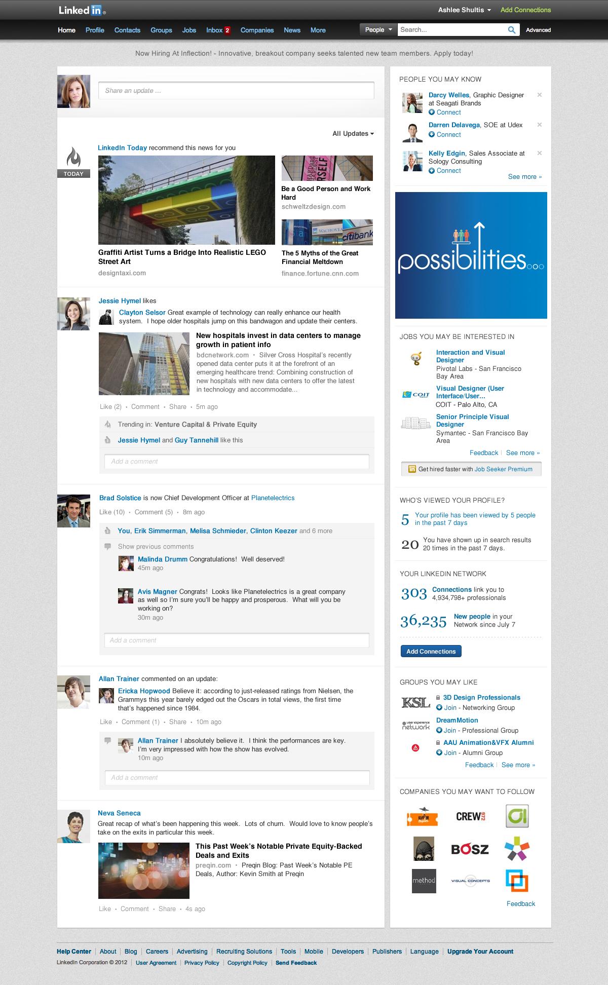 LinkedIn remodèle sa page d'accueil pour qu'elle soit beaucoup plus sociale