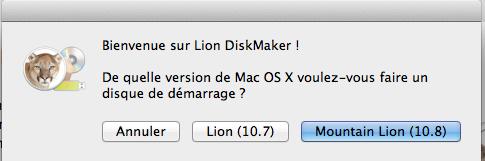 Lion Diskmaker l'application ultime pour créer une partition bootable d'OS X Mountain Lion - Mountain Lion (10.8)