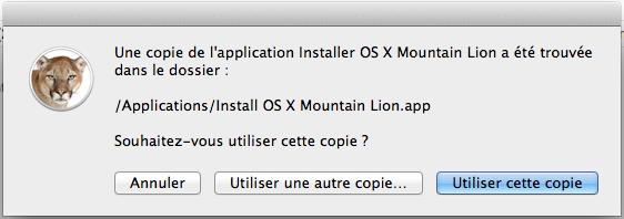 Lion Diskmaker l'application ultime pour créer une partition bootable d'OS X Mountain Lion - Utiliser cette copie